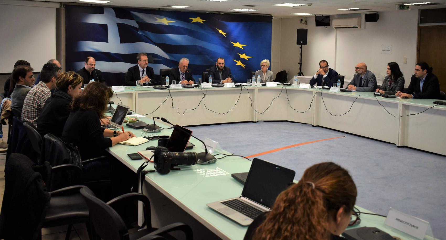 Κοινή συνέντευξη τύπου πολιτικής ηγεσίας Υπουργείου Οικονομίας και Ανάπτυξης